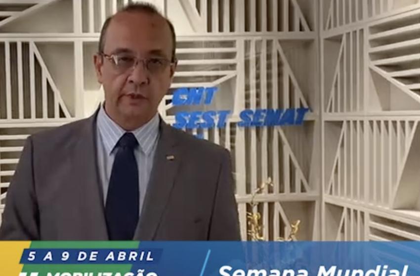 #SaúdeNoTransporte : O presidente do Sistema CNT, Vander Costa, tem um convite para você!