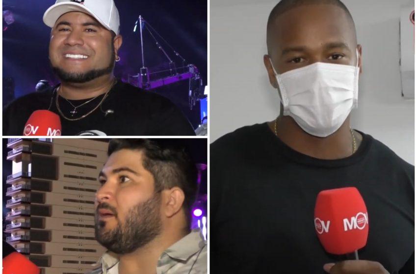 Entrevista com os cantores e muito mais: os bastidores da live dos Barões da Pisadinha e Léo Santana, em Guarapari