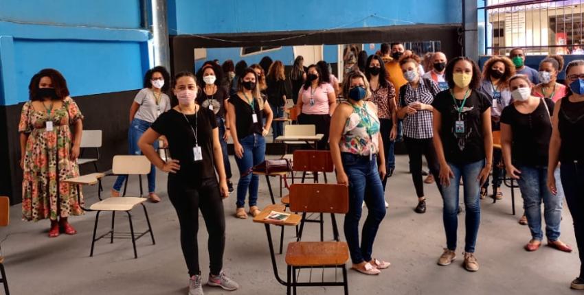 Profissionais da Assistência Social são vacinados contra a Covid-19 em Cariacica
