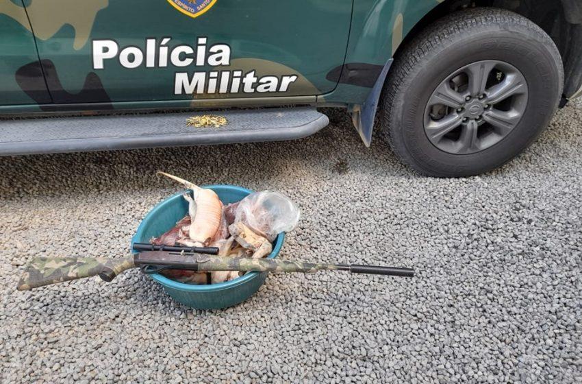 PM apreende animais silvestres abatidos para comercialização ilegal em Sooretama