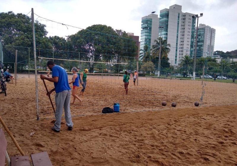 Quadras, campos e centros esportivos recebem melhorias em Vitória