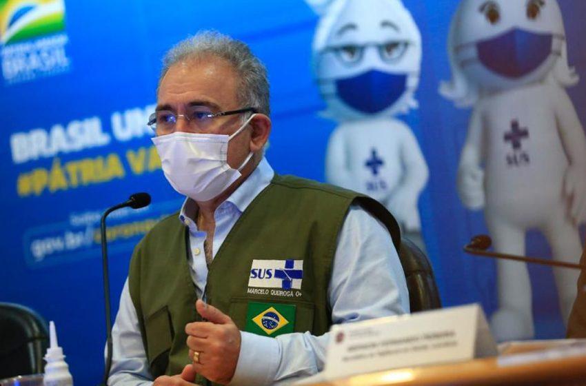 População estará imunizada contra Covid até o fim do ano, diz Queiroga