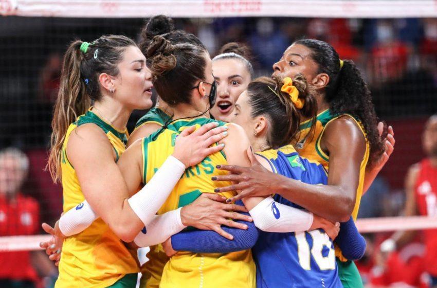 Seleção feminina de vôlei conquista a medalha de prata em Tóquio 2020