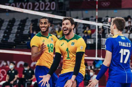 Vôlei: seleção masculina supera Japão e pega Comitê Russo na semi