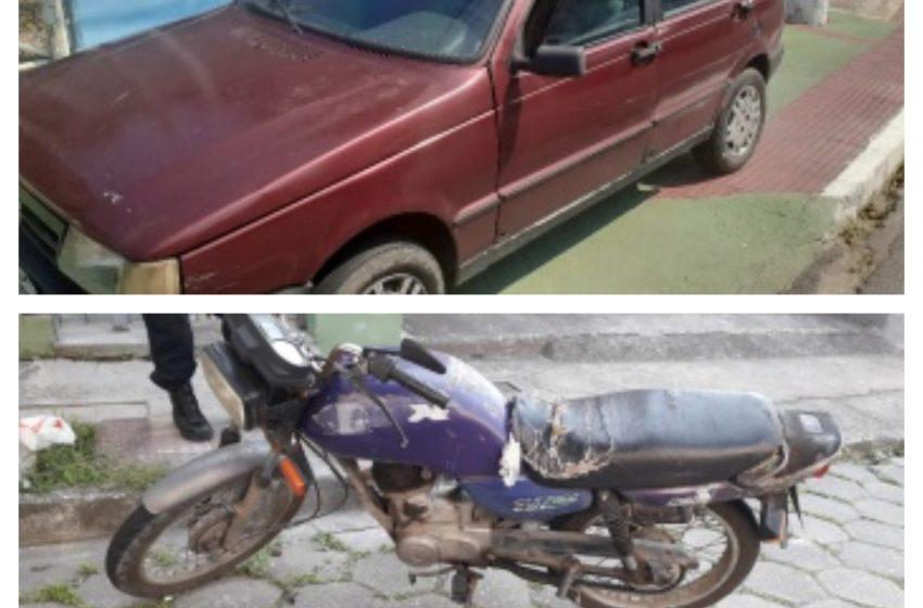 Guarda Municipal recupera dois veículos e apreende acusado de homicídio
